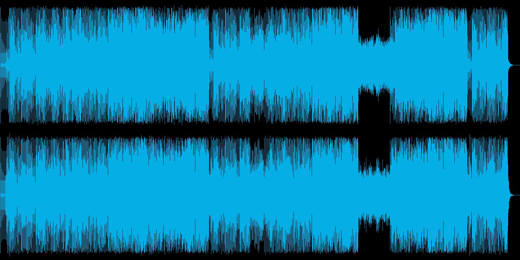 ビートのある懐かしいシンセサイザーの曲の再生済みの波形
