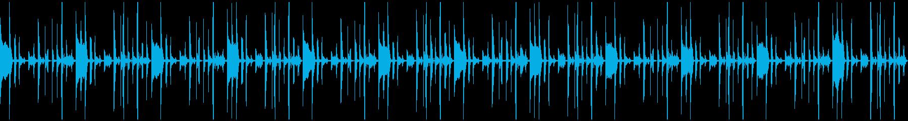 トーク、会話の背景用BGM(ループ)の再生済みの波形