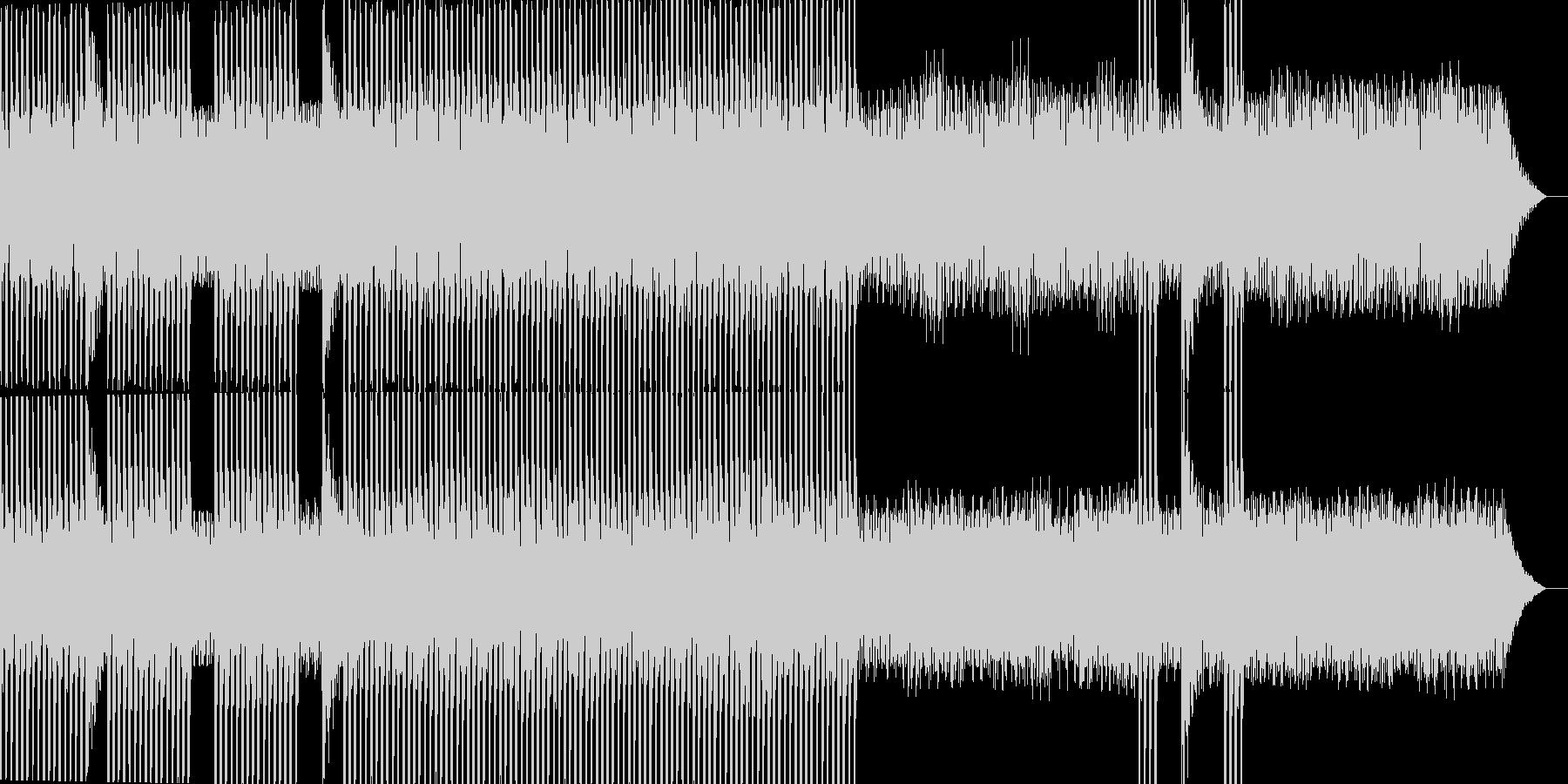 シンプルで静寂なテクノサウンドですの未再生の波形
