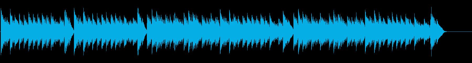 キラキラ星変奏曲(Var Ⅳ)オルゴールの再生済みの波形
