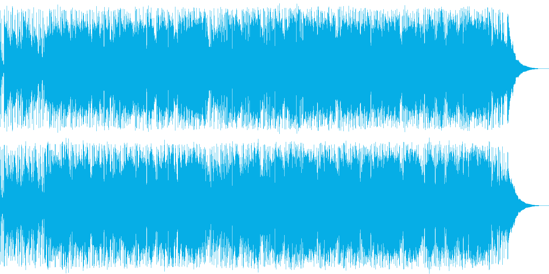 散歩道を歩くポップで爽やかなオカリナ曲の再生済みの波形