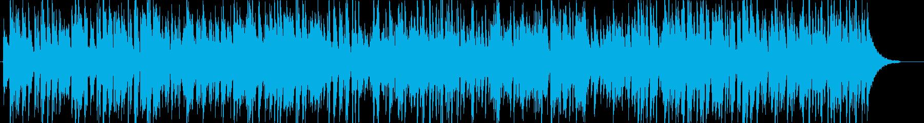ギターアドリブ多めのアップテンポジャズの再生済みの波形