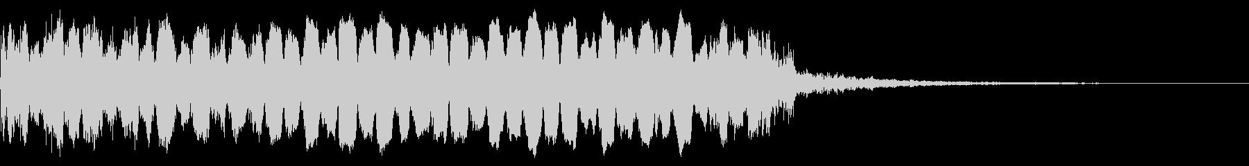 不穏 トランペット リバーブの未再生の波形
