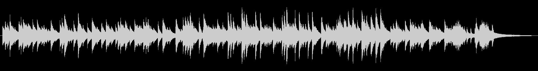 ソフトなジャズラウンジ風ピアノソロの未再生の波形