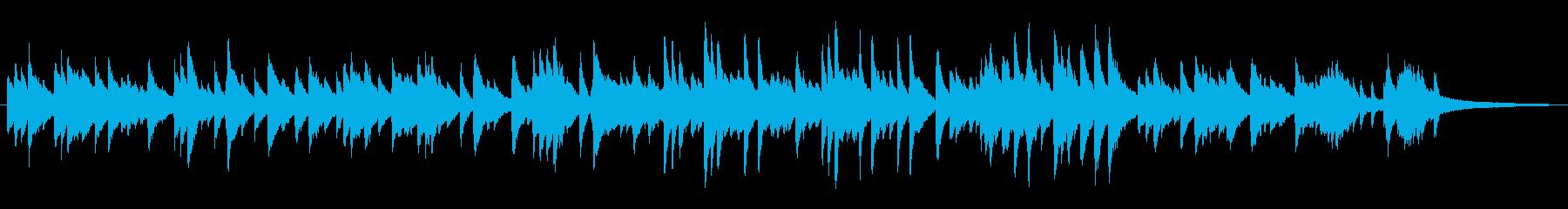 ソフトなジャズラウンジ風ピアノソロの再生済みの波形
