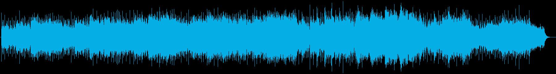 美しくキラキラ感のあるシンセサイザー曲の再生済みの波形