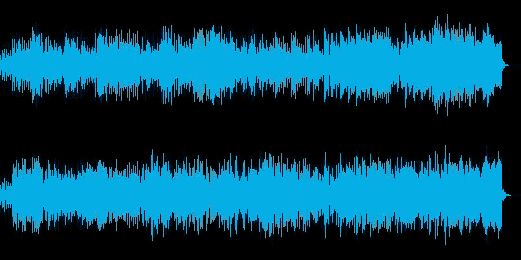 エキゾチックな雰囲気のBGMの再生済みの波形