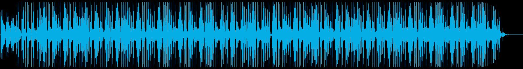 オシャレで浮遊感のあるトラップビートの再生済みの波形
