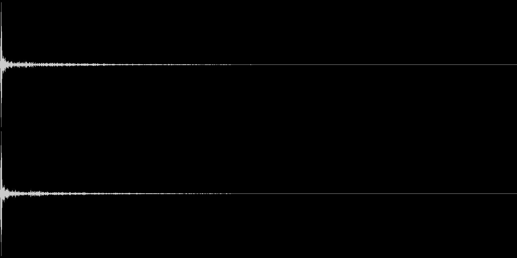 指パッチン(フィンガースナップC )反響の未再生の波形