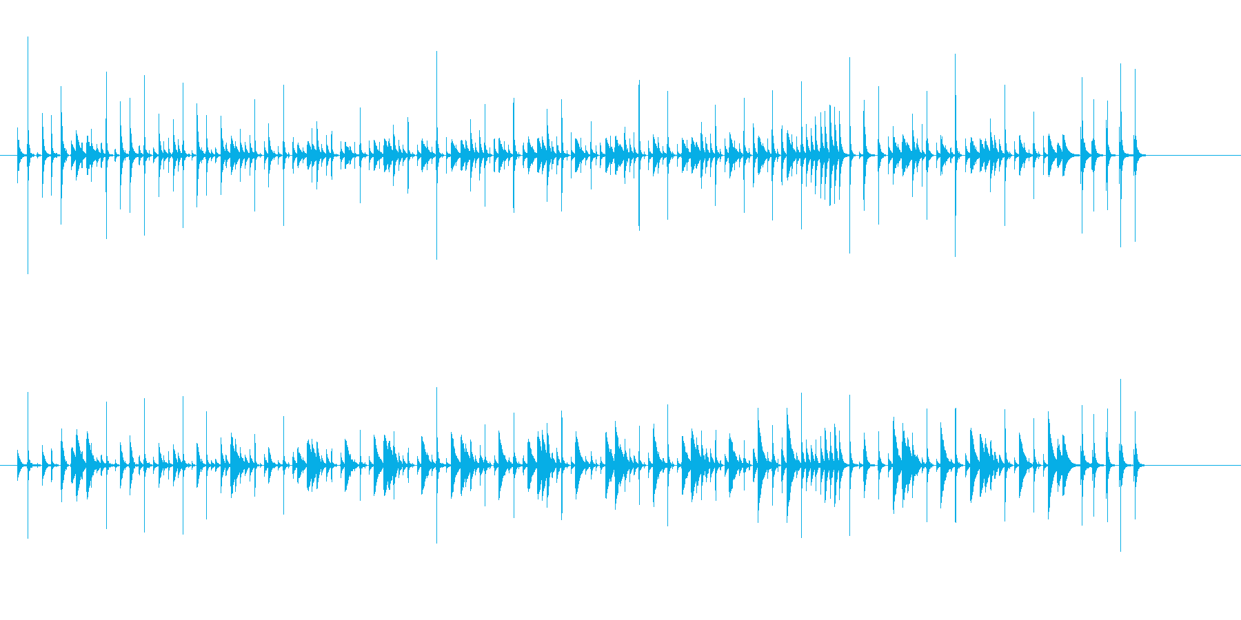 パーカッションコンガ-ミュージカル...の再生済みの波形