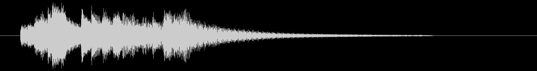 優しく美しいピアノの音色でジングル、ロゴの未再生の波形