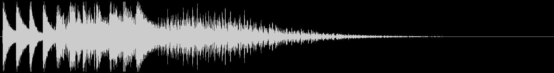 キラキラリーン 下降(鉄琴風)の未再生の波形