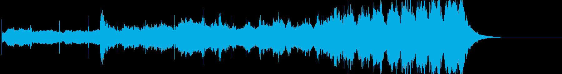 焦りや不安を煽るようなストリングスの曲の再生済みの波形