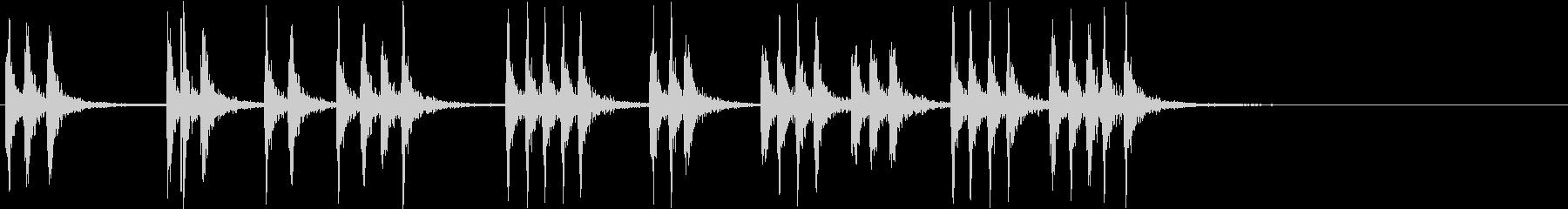 連続した、重いノック音(ループ可能)の未再生の波形