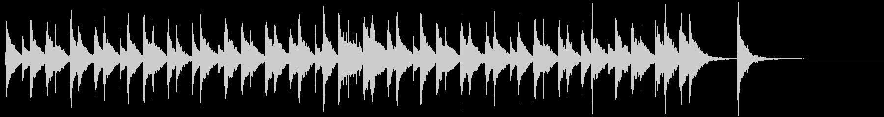 ほのぼの明るいウクレレと木琴のジングルの未再生の波形