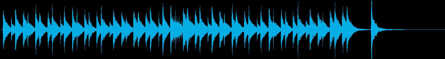 ほのぼの明るいウクレレと木琴のジングルの再生済みの波形