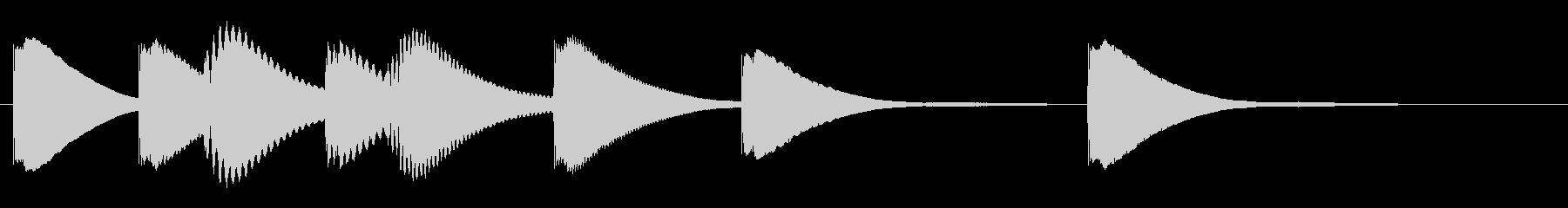 ジングル 木琴 学校 ほのぼのの未再生の波形