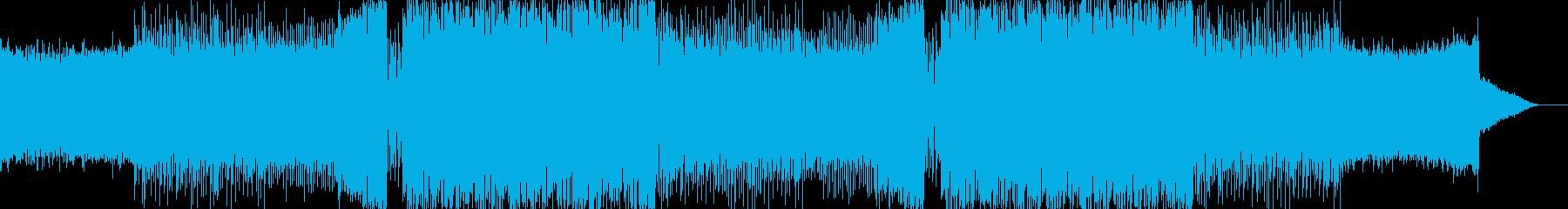 EDM、凶悪なワブルベースのダブステップの再生済みの波形