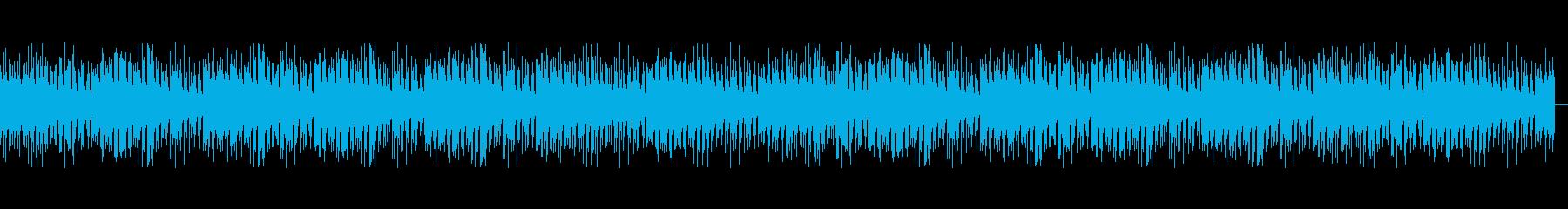BGMウクレレ、ナレーションほのぼのの再生済みの波形