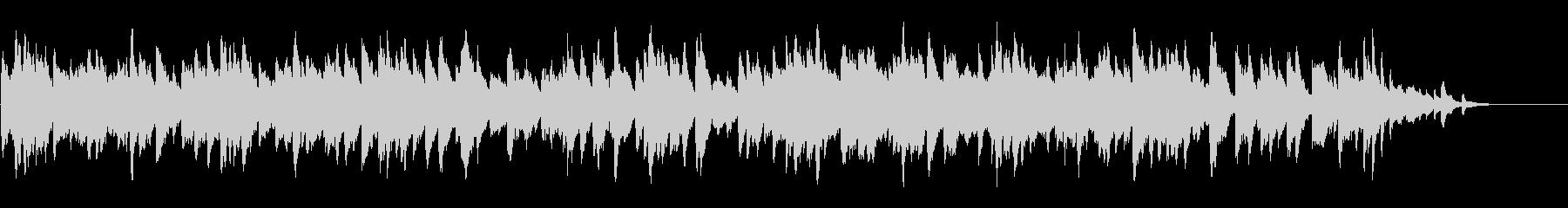 終わり来る残響のピアノの未再生の波形