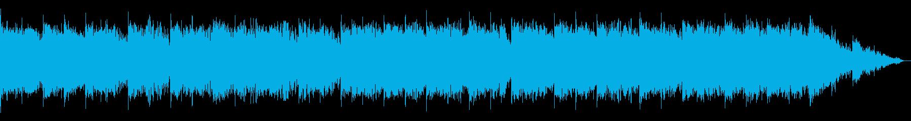 静かでキラキラしたシンセサイザーの再生済みの波形