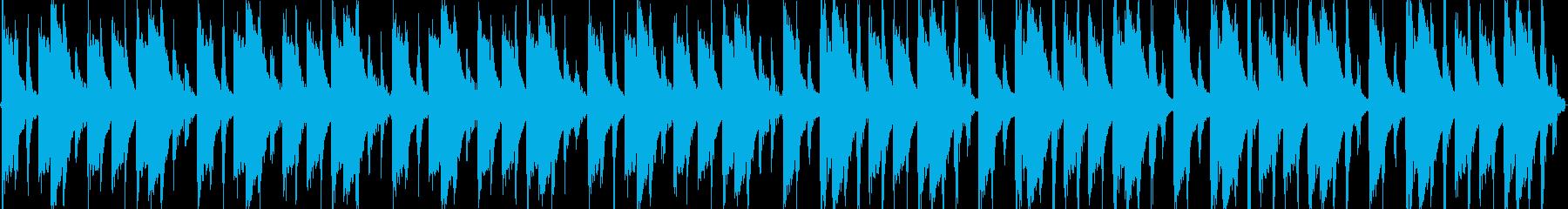 ラテンなリズムループですの再生済みの波形