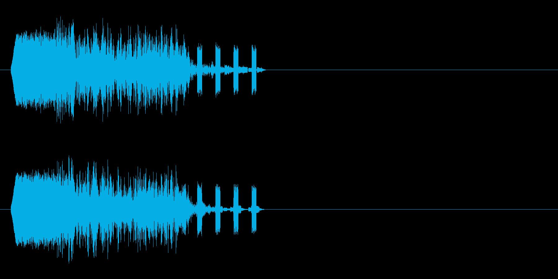 クイック粉砕ヒットの再生済みの波形