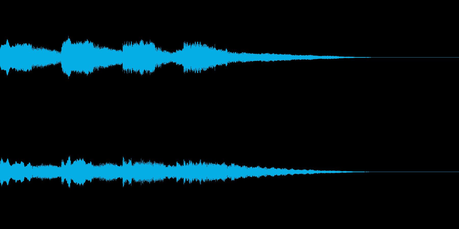 ほのぼの アイキャッチ 場面転換の再生済みの波形