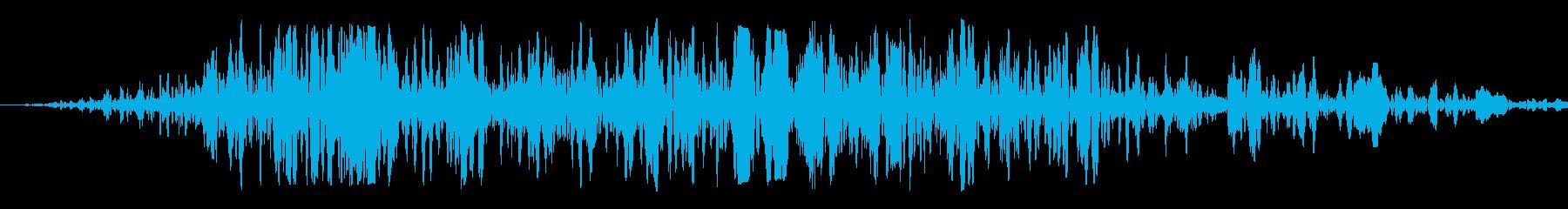 激しい炎(短め)の再生済みの波形