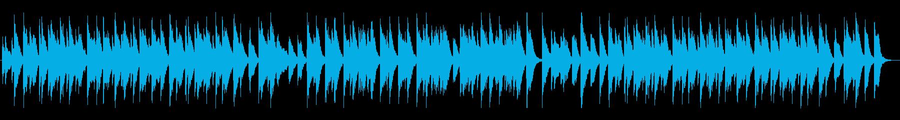 陽気な酒場のホンキートンクピアノの再生済みの波形