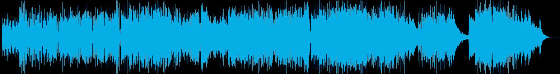 スウィングロックのようなアップビートの再生済みの波形