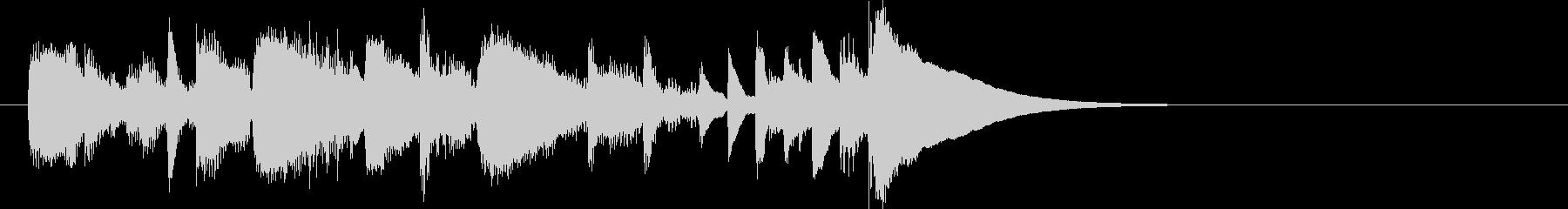 メロディアスなピアノの未再生の波形