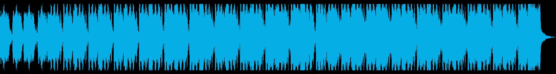 和太鼓と笛の祭囃子風BGMの再生済みの波形