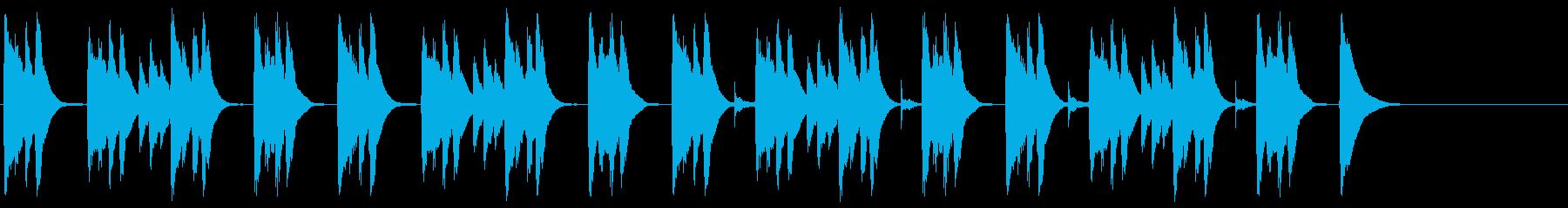 ゆったりとした雰囲気の日常曲の再生済みの波形