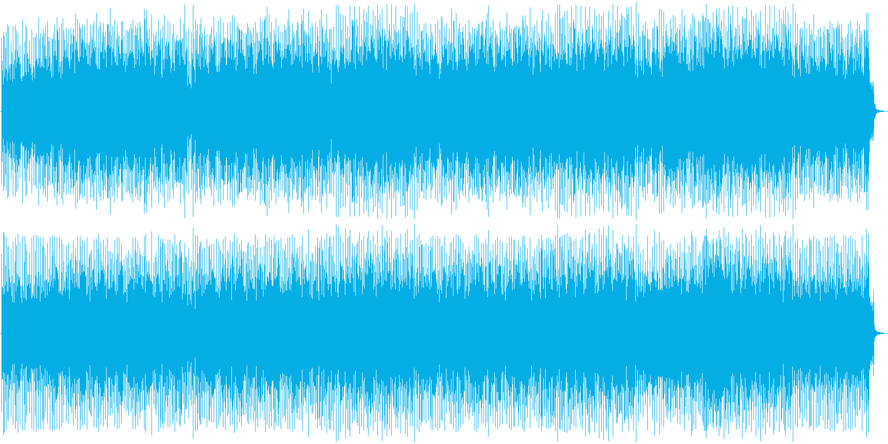 ダークな雰囲気の和風ポップスBGMの再生済みの波形