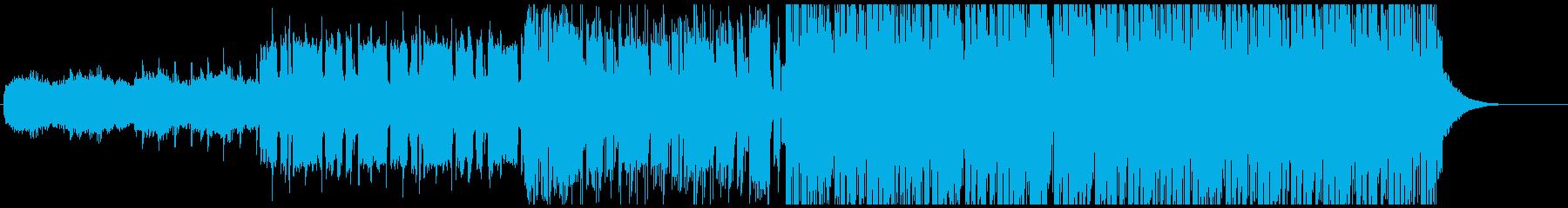 ディープハウス風の爽やかなEDMの再生済みの波形