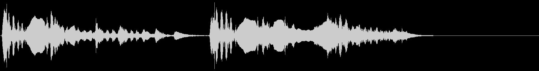 生演奏 尺八 薩摩琵琶 その1 残響音有の未再生の波形