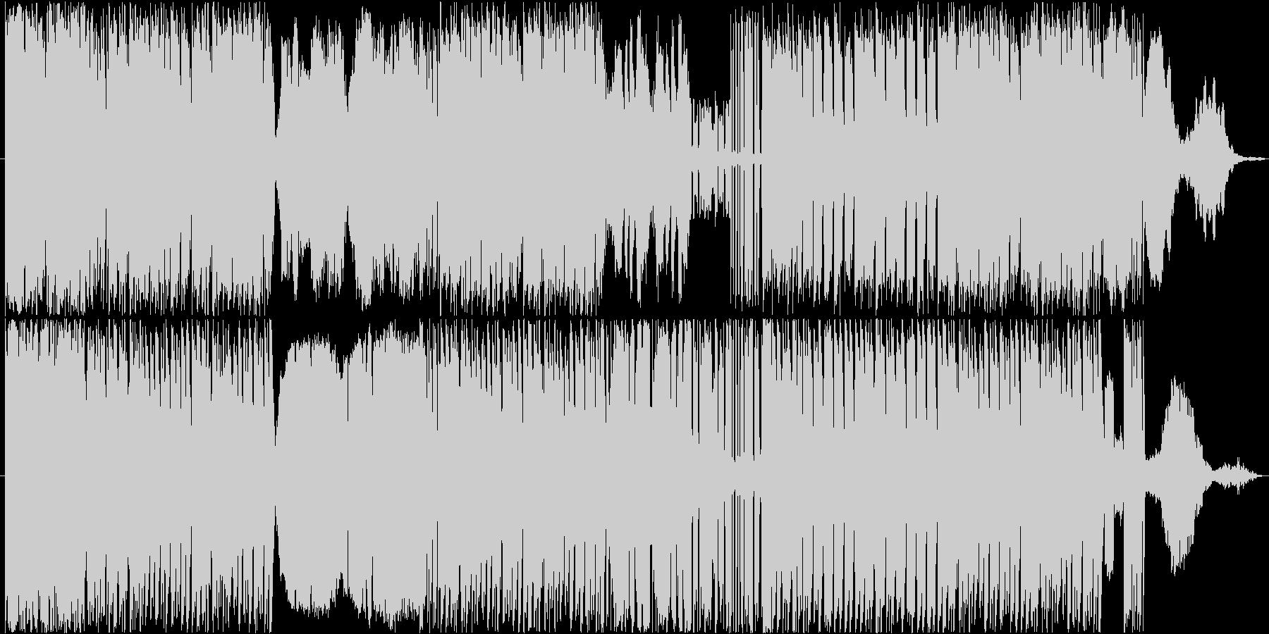 エキセントリックでユーモアのあるBGMの未再生の波形