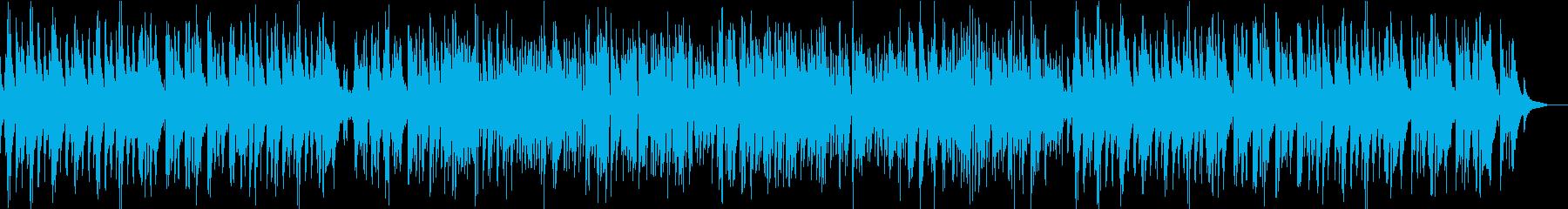 ほのぼのした雰囲気のアップテンポジャズの再生済みの波形
