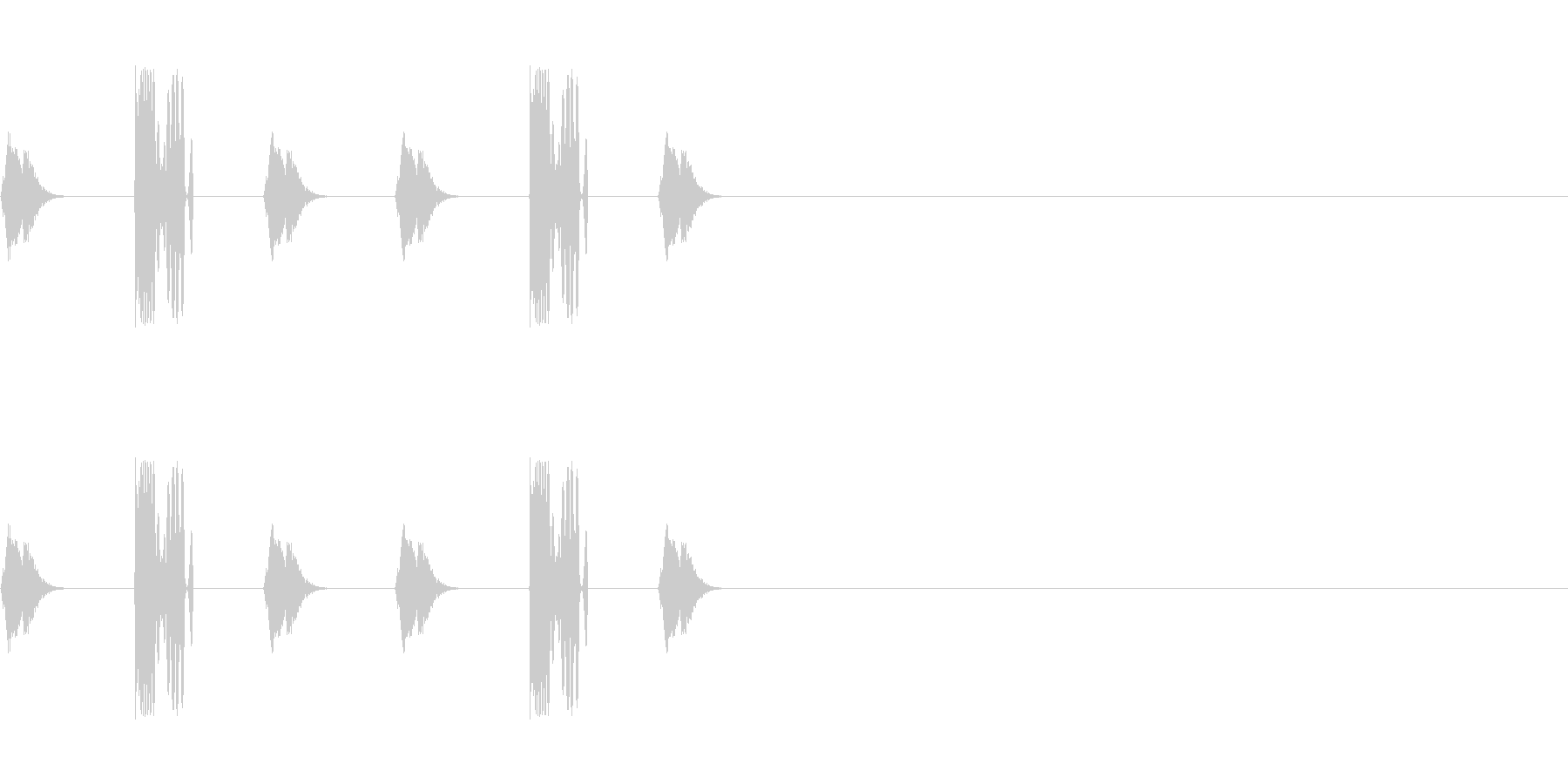 DJスクラッチ/ターンテーブル/E-15の未再生の波形