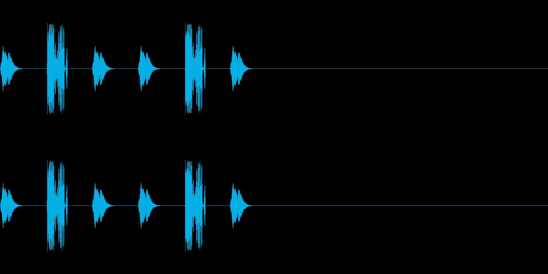 DJスクラッチ/ターンテーブル/E-15の再生済みの波形