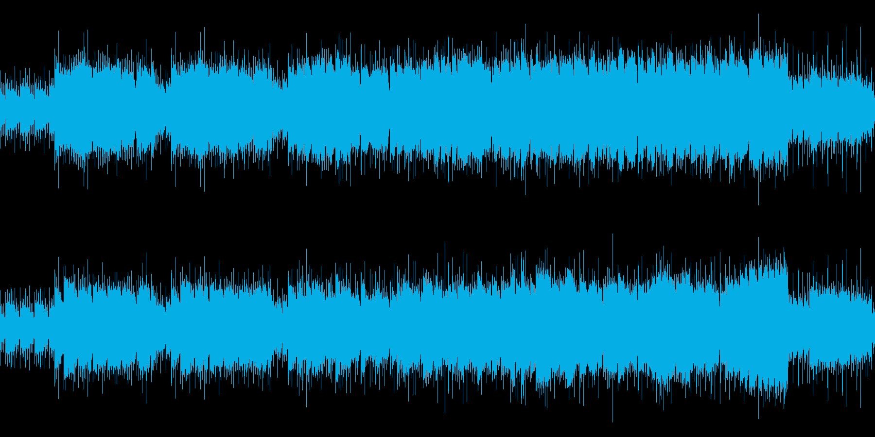 目の前に広がる冒険 明るいフィールド曲の再生済みの波形