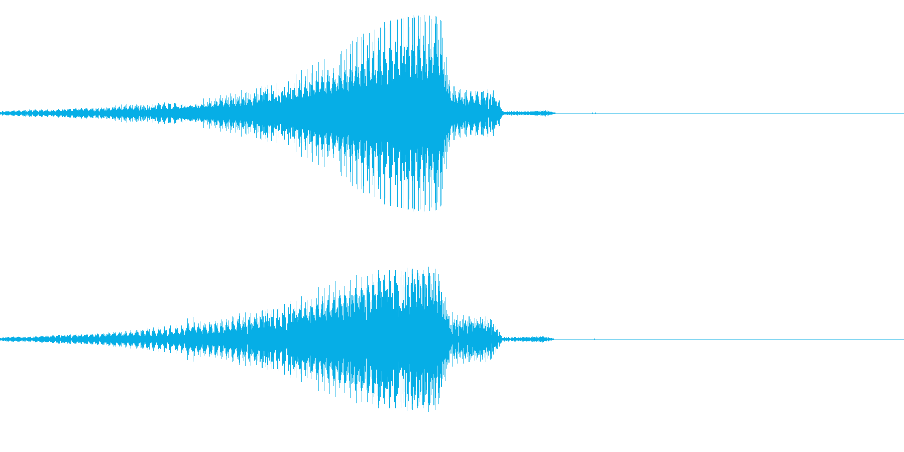 ブゥ~~ンの再生済みの波形