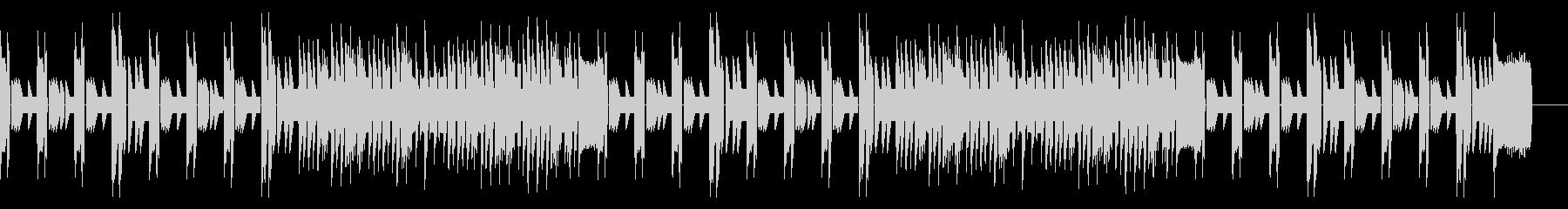 レトロシューティングゲームBGMの未再生の波形