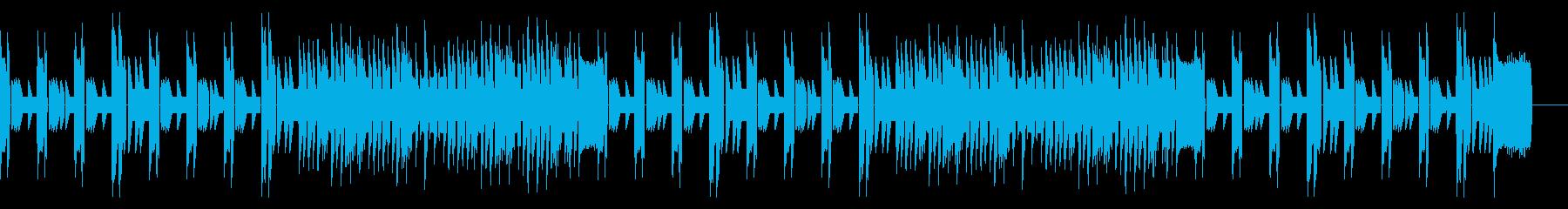 レトロシューティングゲームBGMの再生済みの波形
