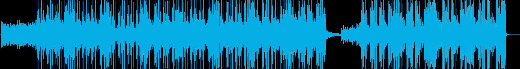 ドラムが盛り上げるアップテンポなナンバーの再生済みの波形