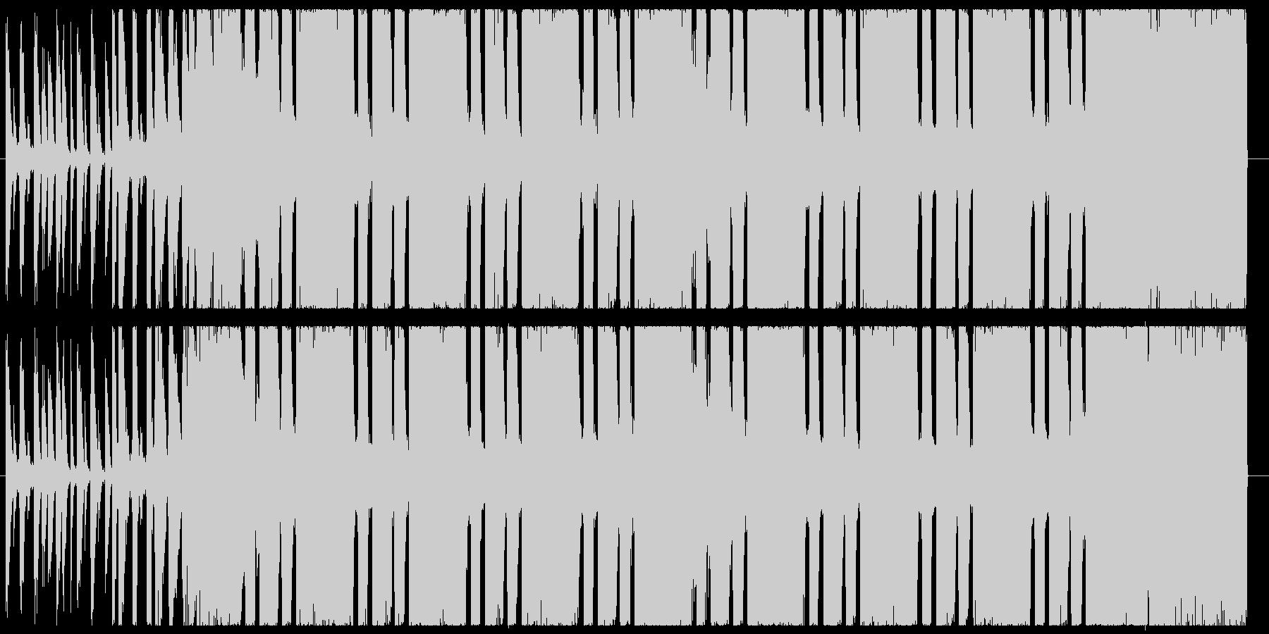 30秒ヘヴィギター&ダウンビート②の未再生の波形