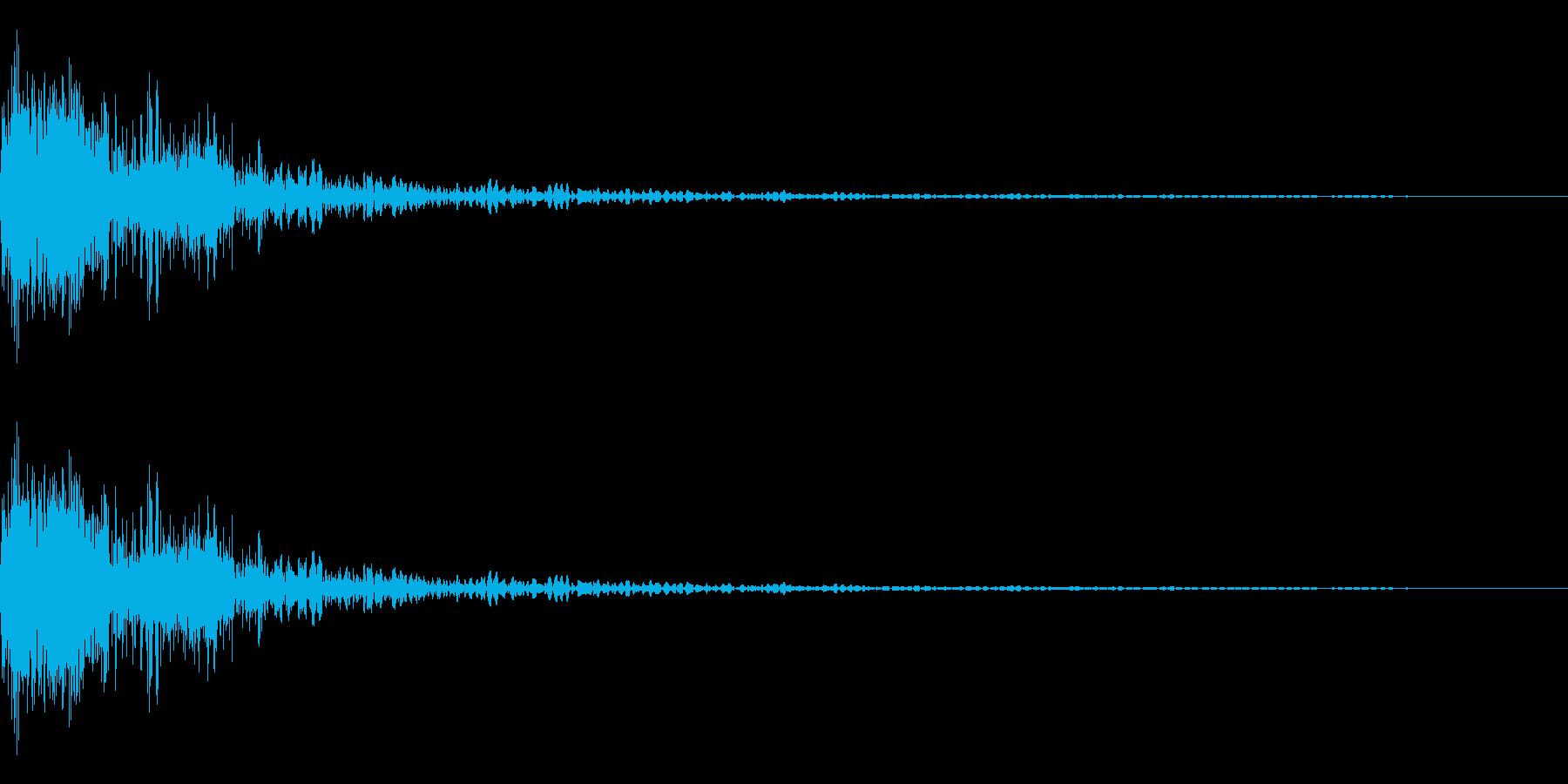 「規模が大きめの爆発音1」と微妙にニュ…の再生済みの波形