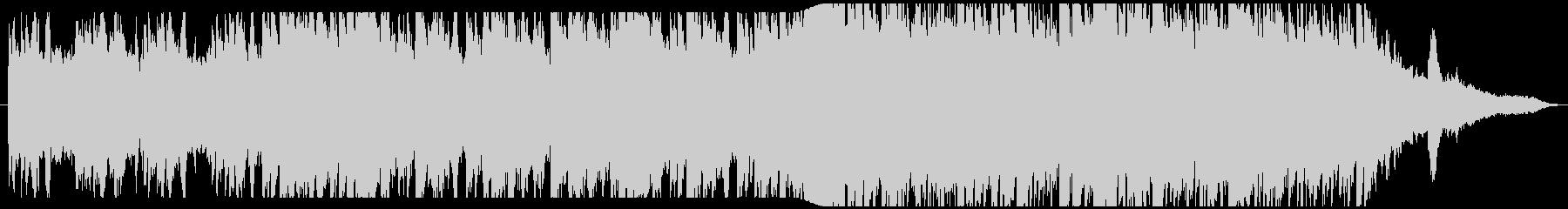 静寂の世界を表現したピアノバラードBGMの未再生の波形