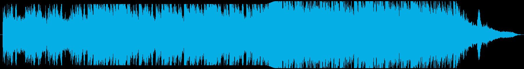 静寂の世界を表現したピアノバラードBGMの再生済みの波形